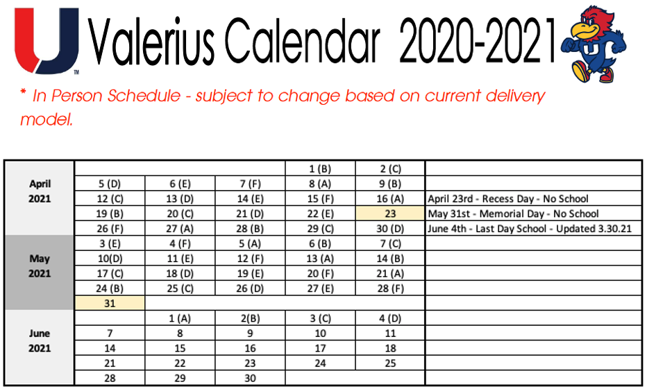 Ucsd Calendar 2022 2023.Calendar Valerius Urbandale Schools